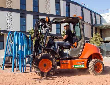 AUSA forklift onsite