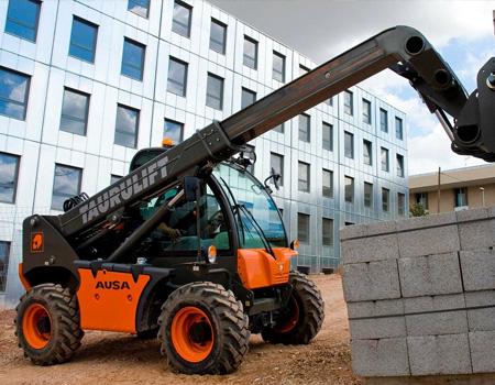 AUSA telehandler construction site